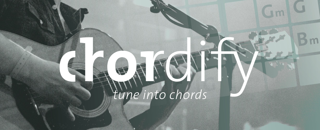 Chordify, tune into chords