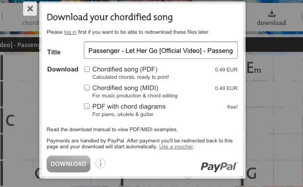 Download Chords As Pdf Midi Blog Chordify Tune Into Chords