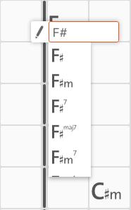 Search chords - chord editing