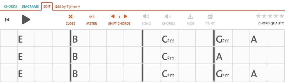 Chordify chords offset