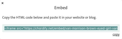 Chordify Embed - HTML