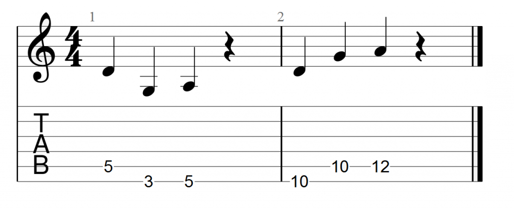 Memorizing chord progression roots using tablature (part II)
