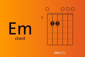 How to play an Em chord in three simple steps