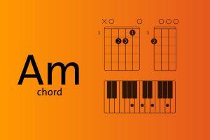 Am chord explained for ukulele, piano, and guitar